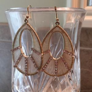 Jewelry - Crystal and Metal Dangle Earrings